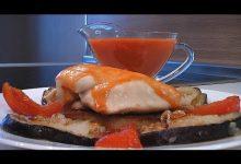 Филе курицы с баклажанами и помидорами - Кулинарные видео рецепты