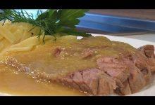Отварная говядина с соусом Белое вино - Кулинарные видео рецепты
