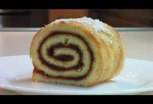 Сладкий рулет за 25 минут - Кулинарные видео рецепты