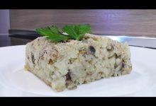 Запеченный грибной рулет - Кулинарные видео рецепты