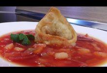 Борщ свекольный с перловой крупой - Кулинарные видео рецепты